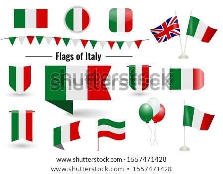 banner with two square flags of united kingdom and italy stock photo © mikhailmishchenko