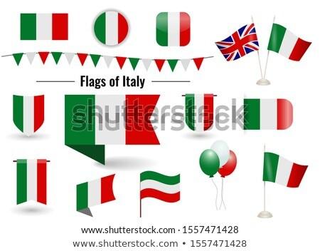 Bandeira dois praça bandeiras Reino Unido Itália Foto stock © MikhailMishchenko
