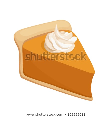 Dessert Piece of Pumpkin Cake Isolated Vector Stock photo © robuart