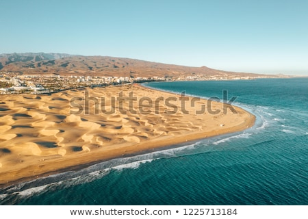 sand dunes of Maspalomas in Gran Canaria, Spain Stock photo © nito