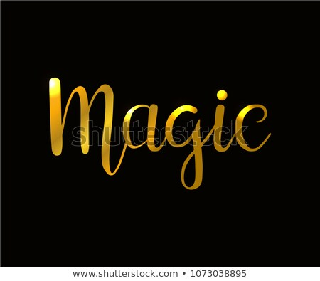 Font design for word magic show Stock photo © colematt