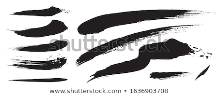Black analog line drawn by handwriting Stock photo © Blue_daemon