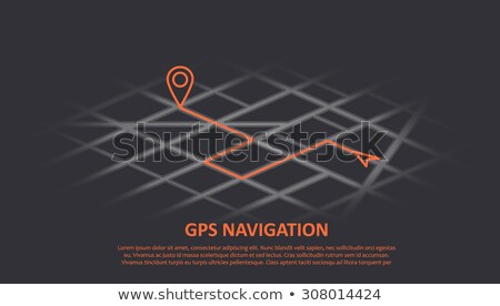 GPS Navigator Red Pointers, Vector Markers Set Stock photo © pikepicture