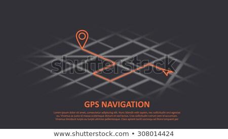 город · карта · иллюстрация · сложенный · GPS - Сток-фото © pikepicture