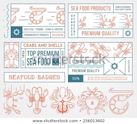 Color vintage mariscos restaurante emblema eps Foto stock © netkov1