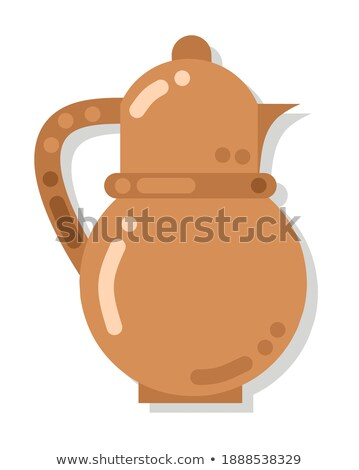 Earthenware Sign, Jug with Handle, Dish Vector Stock photo © robuart