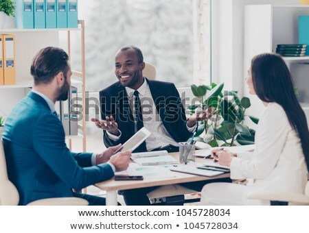young attractive professionals having business training stock photo © galitskaya