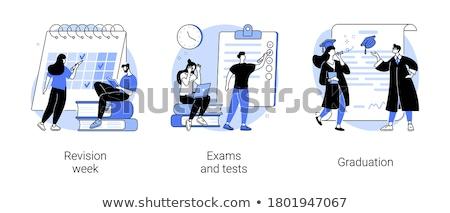 Revision week concept vector illustration Stock photo © RAStudio