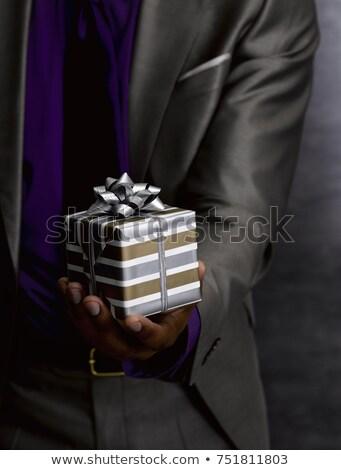 Elöl kilátás üzletember áll bemutató auditórium Stock fotó © wavebreak_media