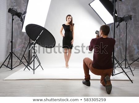 Masculino profissional fotógrafo trabalhando estúdio homem Foto stock © HighwayStarz