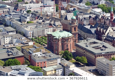 Aerial view of Paulskirche church in Frankfurt Stock photo © manfredxy