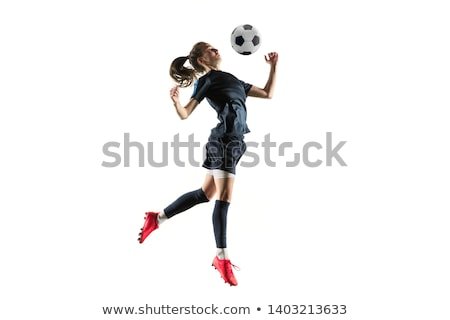 Athlete bouncing ball on white background Stock photo © bluering