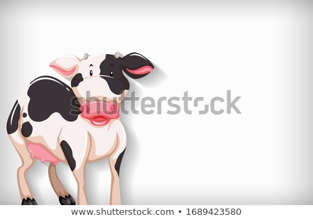 Background template with plain color and little cow Stock photo © bluering