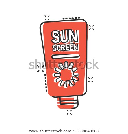sunscreen effect icon vector outline illustration Stock photo © pikepicture