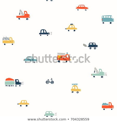 Tow Truck Transport Seamless Pattern Vector Stock photo © pikepicture