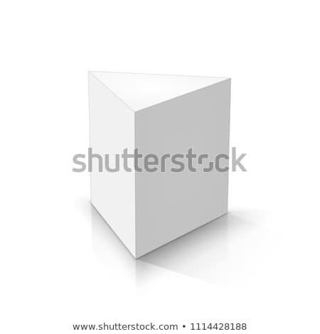 Pryzmat rysunku 3d ilustracji odizolowany biały budowy Zdjęcia stock © montego