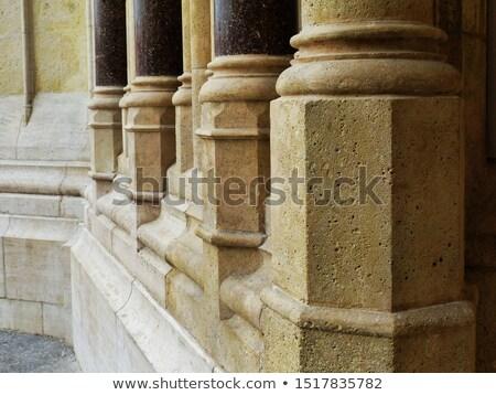 Base of an ancient column. Close up view Stock photo © cienpies