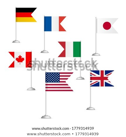 Flags of the countries of the Big Seven, vector illustration. Stock photo © kup1984