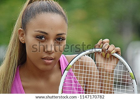 Latina Tennis Girl Stock photo © diomedes66