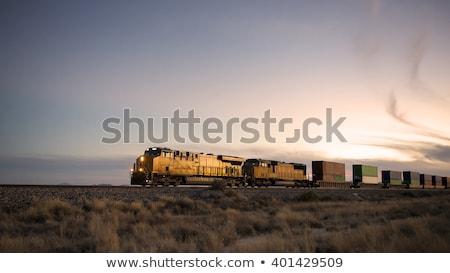 vonat · teher · üzlet · kék · ipar · forgalom - stock fotó © simply