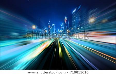 Autópálya forgalom sebesség bemozdult száguld teherautó Stock fotó © blasbike