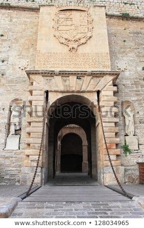 Foto stock: Ibiza Castle Fort Door To Dalt Vila In Eivissa