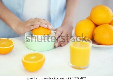 vrouw · sinaasappelsap · keuken · portret · cute - stockfoto © photography33