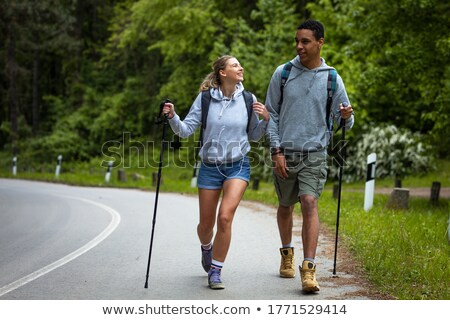 Mixed race couple hiking Stock photo © photography33