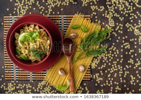 Paste with black and red farfalle Stock photo © zhekos