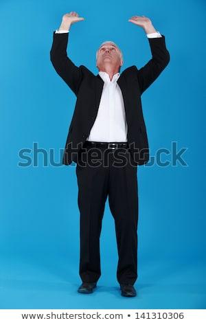 Idős üzletember háttér öltöny testmozgás férfi Stock fotó © photography33