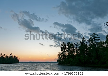 Twilight in Canoe Country Stock photo © wildnerdpix