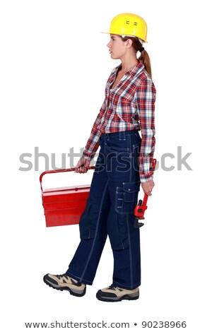 Tradeswoman going to work Stock photo © photography33