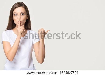 A businesswoman shushing. Stock photo © photography33
