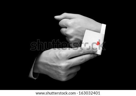 As w górę rękaw szczęśliwy patrząc biznesmen Zdjęcia stock © jayfish