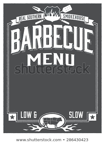 echt · barbecue · symbool · varken · silhouetten · schone - stockfoto © fiftyfootelvis