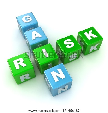 Risk / Gain Crossword Stock photo © head-off