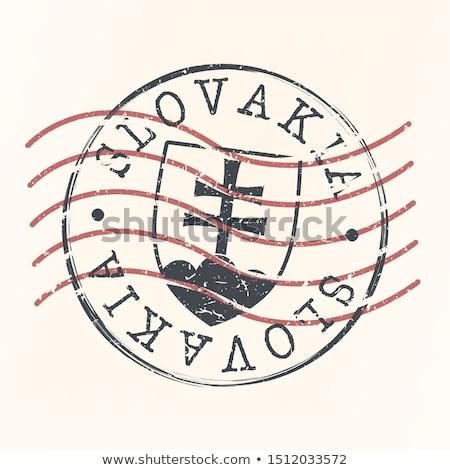 Post sello Eslovaquia impreso familia Foto stock © Taigi