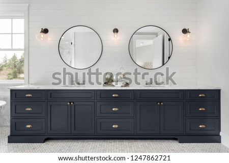 Kabinet badkamer toiletartikelen moderne interieur kamer Stockfoto © timbrk