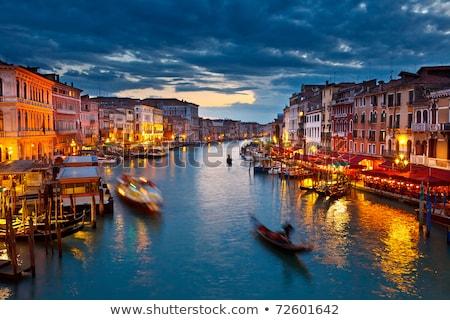 gôndola · Veneza · Itália · canal · água - foto stock © meinzahn