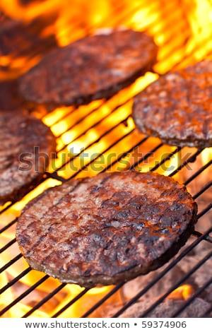 Nagy BBQ főzés tűz szín eszik Stock fotó © raphotos