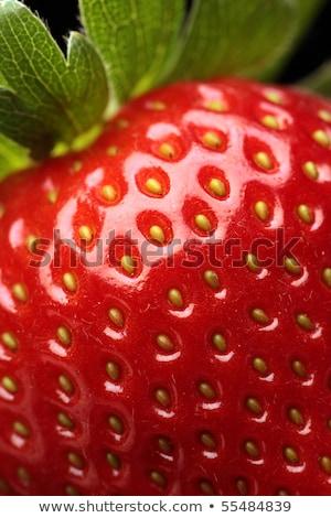 Közelkép részlet eper piros gyümölcs csekk Stock fotó © susabell