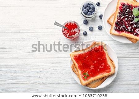 toast · jam · witte · voedsel · vruchten · keuken - stockfoto © m-studio