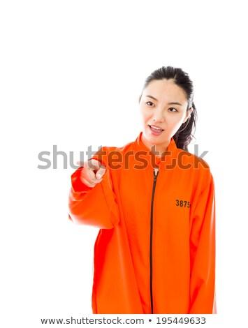 Jovem asiático mulher algo uniforme Foto stock © bmonteny