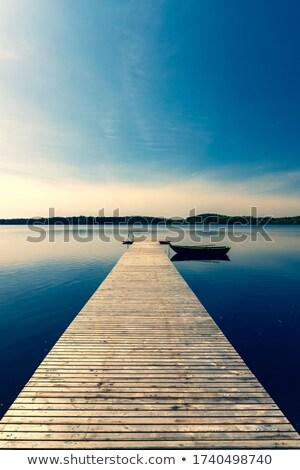 barcos · muelle · puesta · del · sol · vacaciones · viaje · mar - foto stock © dolgachov