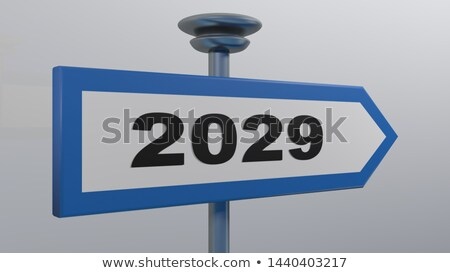 Dating on Blue Direction Arrow Sign. Stock photo © tashatuvango