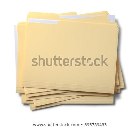 Boglya iroda mappák izolált fehér üzlet Stock fotó © tetkoren