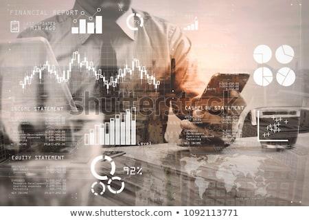 Análise financeiro diagrama calculadora lápis indústria Foto stock © tangducminh