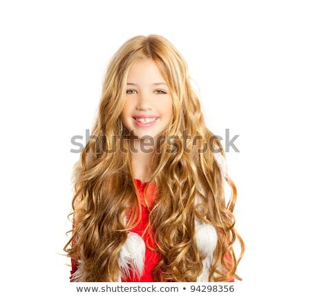 pequeño · rubio · feliz · estudiante · nina · sonriendo - foto stock © lunamarina