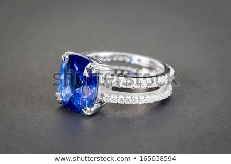 background with Golden diamond ring on a blue background Stock photo © yurkina