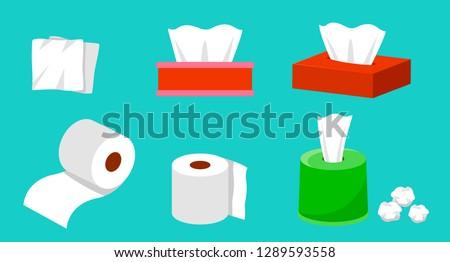 Papírzsebkendő papír boglya összehajtva eldobható papírok Stock fotó © dezign56